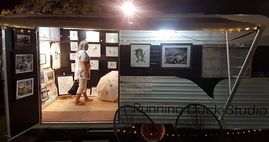 RDS Mobile Art Gallery caravan